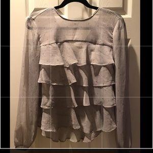 Loft ruffle blouse.  Size XS